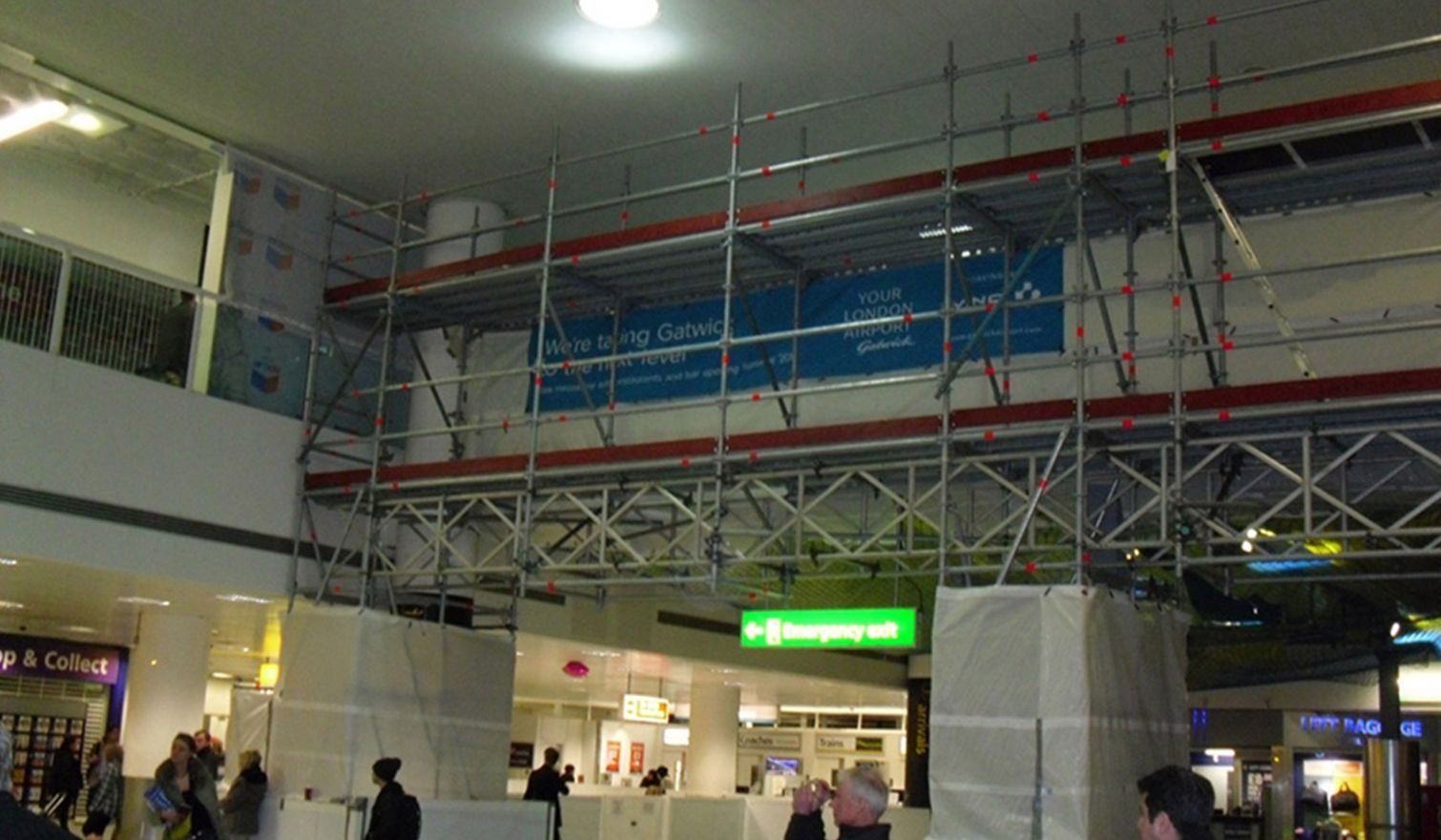 Gatwick Airport - Bridged Layher Access and Protection Scaffold