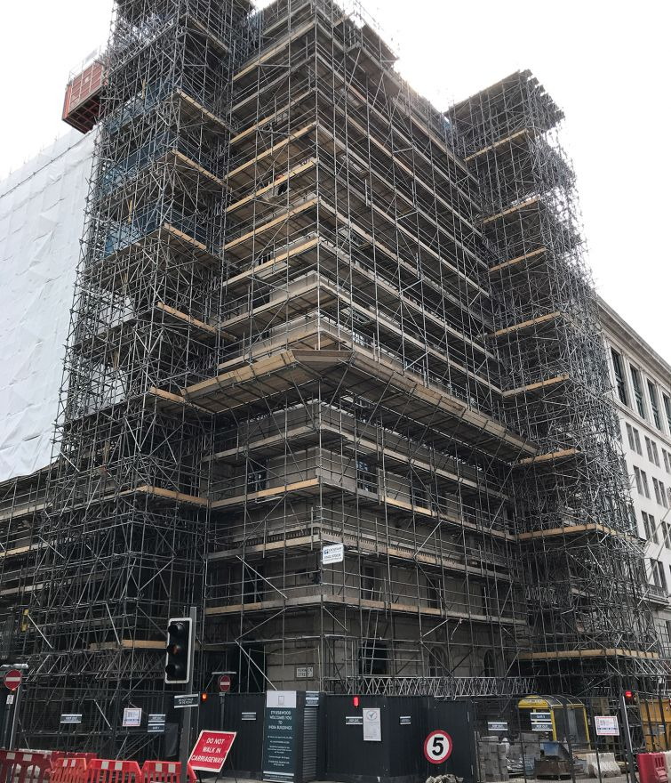India Building, Liverpool - Various Scaffolds