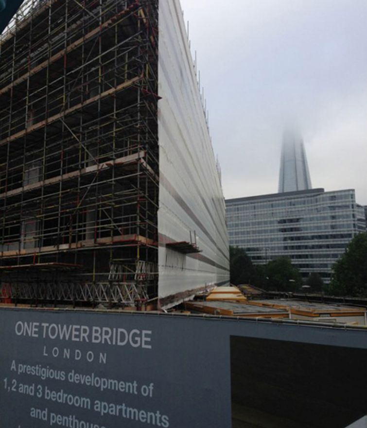 1 Tower Bridge - Various Scaffolds for Access, Loading and Public Protection