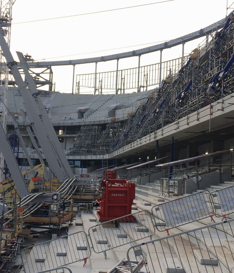 New Stadium - Tottenham Hotspur Football Club - Raking Cable Support Scaffolds